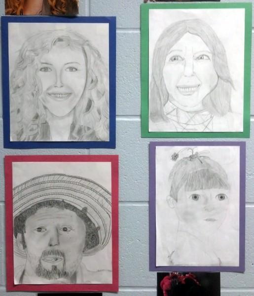 pencil portrait art