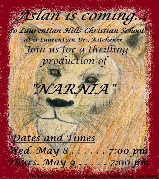 LHCS Narnia poster