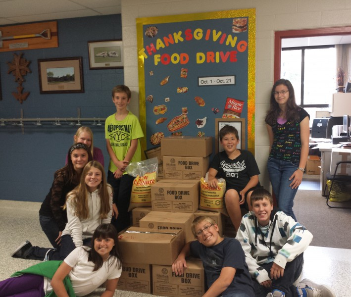 food drive and students